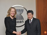 Call on Secretary-General of ASEAN Dato Lim Jock Hoi by the Ambassador of Australia to ASEAN, Elizabeth Jane Duke, 12 January 2018